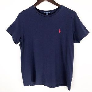 💛 Ralph Lauren Pony T-shirt Navy Blue Embroidered